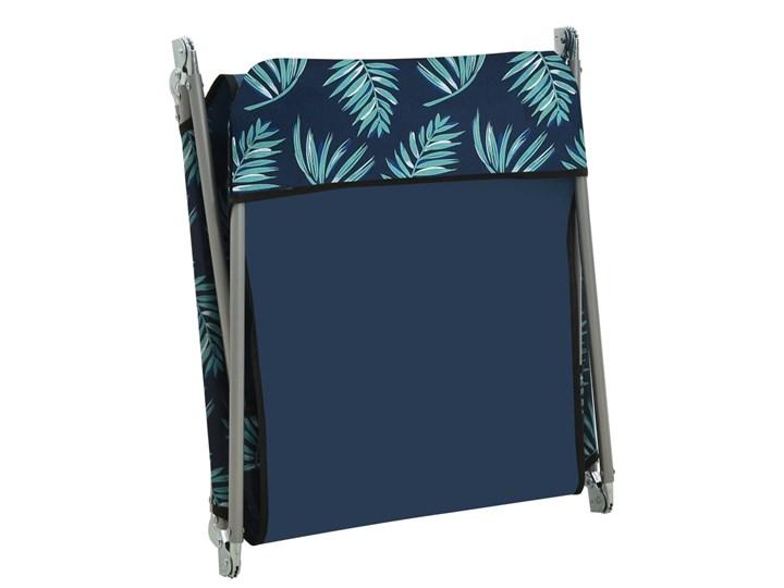 vidaXL Składane leżaki, 2 szt., stal i tkanina, ze wzorem liści Kolor Czarny Z regulowanym oparciem Metal Kategoria Leżaki ogrodowe
