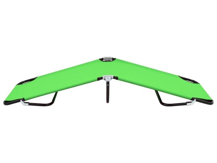 vidaXL Składany leżak, stal, zielony Składane Metal Kategoria Leżaki ogrodowe
