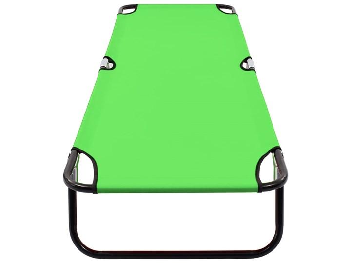vidaXL Składany leżak, stal, zielony Metal Składane Kategoria Leżaki ogrodowe