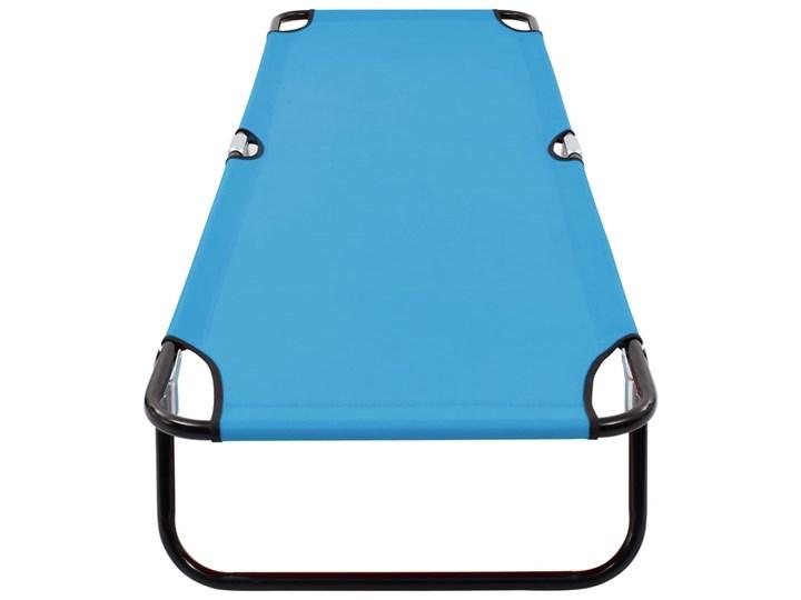 vidaXL Składany leżak, stal, turkusowo-niebieski Składane Metal Kategoria Leżaki ogrodowe
