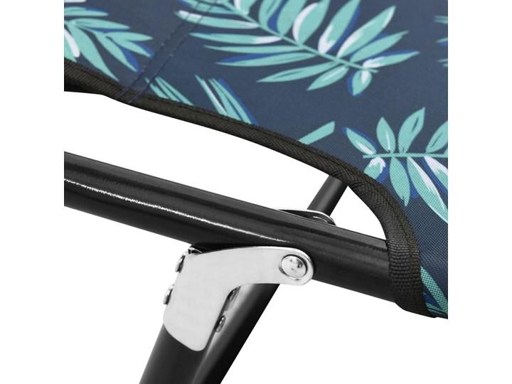 vidaXL Składany leżak, stal, nadruk w liście Kolor Czarny Składane Metal Kategoria Leżaki ogrodowe