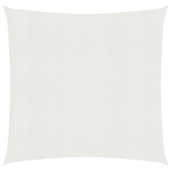 vidaXL Żagiel przeciwsłoneczny, 160 g/m², biały, 6x6 m, HDPE