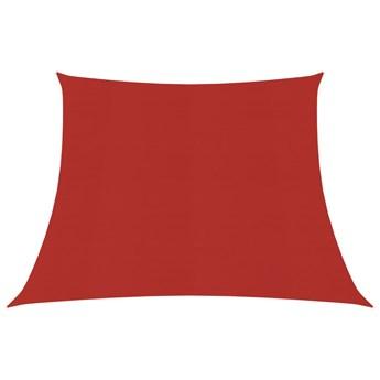 vidaXL Żagiel przeciwsłoneczny, 160 g/m², czerwony, 4/5x4 m, HDPE