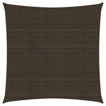 vidaXL Żagiel przeciwsłoneczny, 160 g/m², brązowy, 4,5x4,5 m, HDPE