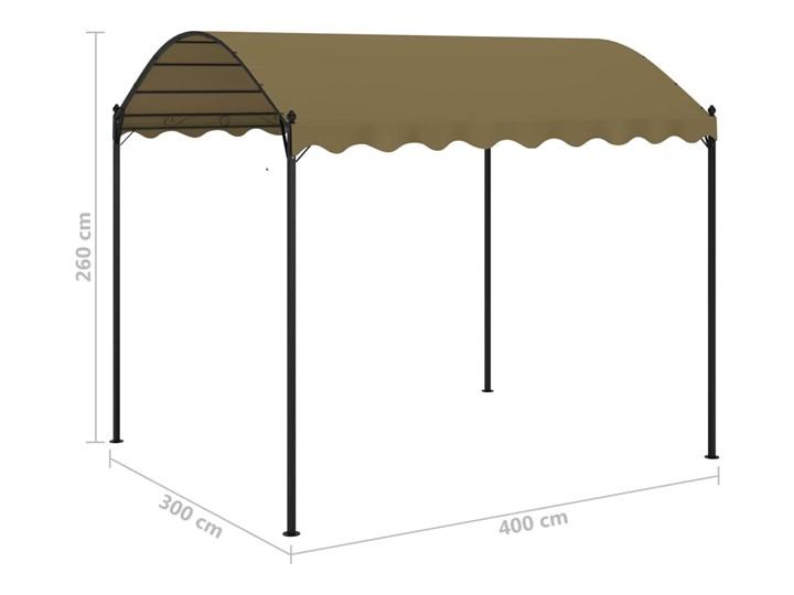 vidaXL Altana, 4x3x2,6 m, kolor taupe, 180 g/m² Wysokość 260 cm Długość 4 m Kategoria Altany ogrodowe Szerokość 3 m Kolor Brązowy