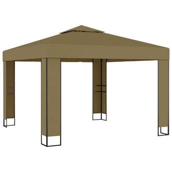 vidaXL Altana z podwójnym dachem, 3x3x2,7 m, taupe, 180 g/m²