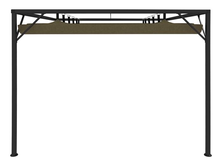 vidaXL Altana przyścienna ze zwijanym dachem, 3x3 m, taupe, 180 g/m² Wysokość 230 cm Kategoria Altany ogrodowe