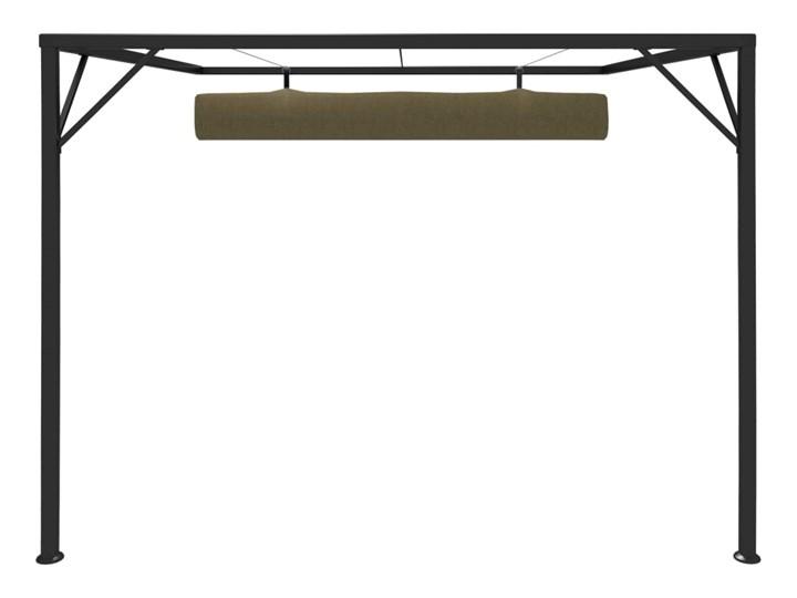 vidaXL Altana przyścienna ze zwijanym dachem, 3x3 m, taupe, 180 g/m² Kategoria Altany ogrodowe Wysokość 230 cm Kolor Czarny