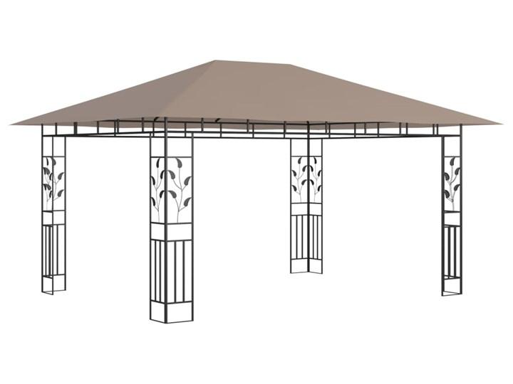 vidaXL Altana ogrodowa z moskitierą, 4x3x2,73 m, kolor taupe, 180 g/m² Kategoria Altany ogrodowe Długość 4 m Wysokość 273 cm Kolor Brązowy
