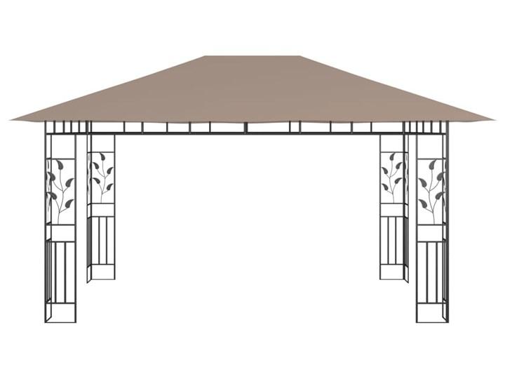 vidaXL Altana ogrodowa z moskitierą, 4x3x2,73 m, kolor taupe, 180 g/m² Długość 4 m Wysokość 273 cm Kategoria Altany ogrodowe