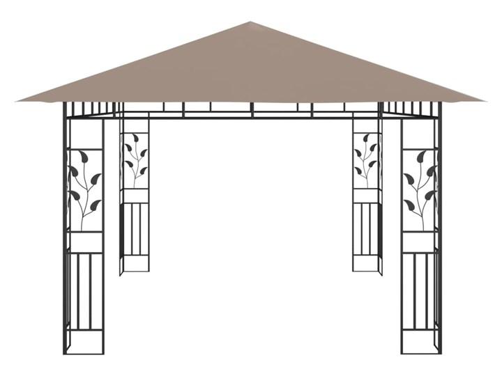 vidaXL Altana ogrodowa z moskitierą, 4x3x2,73 m, kolor taupe, 180 g/m² Wysokość 273 cm Kategoria Altany ogrodowe Długość 4 m Kolor Brązowy