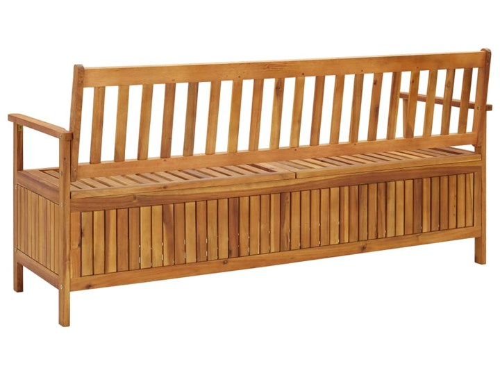 vidaXL Ławka ogrodowa ze schowkiem, 170 cm, lite drewno akacjowe Kategoria Ławki ogrodowe Ze skrzynią Kolor Brązowy