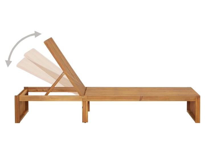 vidaXL Leżak, lite drewno akacjowe Z regulowanym oparciem Styl Rustykalny Kategoria Leżaki ogrodowe
