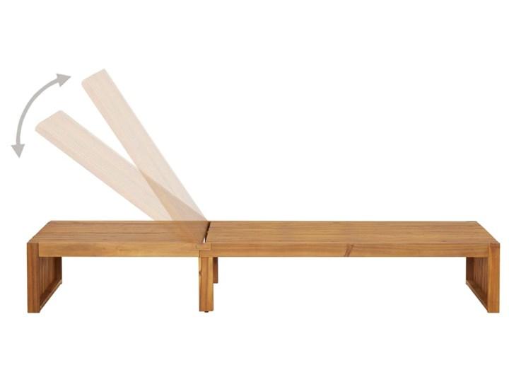 vidaXL Leżak, lite drewno akacjowe Kategoria Leżaki ogrodowe Z regulowanym oparciem Styl Rustykalny