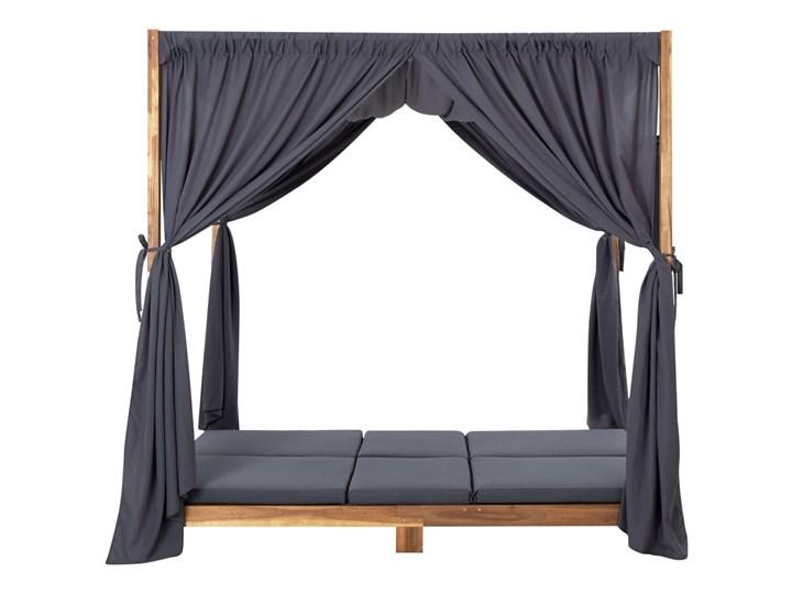 vidaXL Podwójny leżak z zasłonami i poduszkami, lite drewno akacjowe Składane Kategoria Leżaki ogrodowe