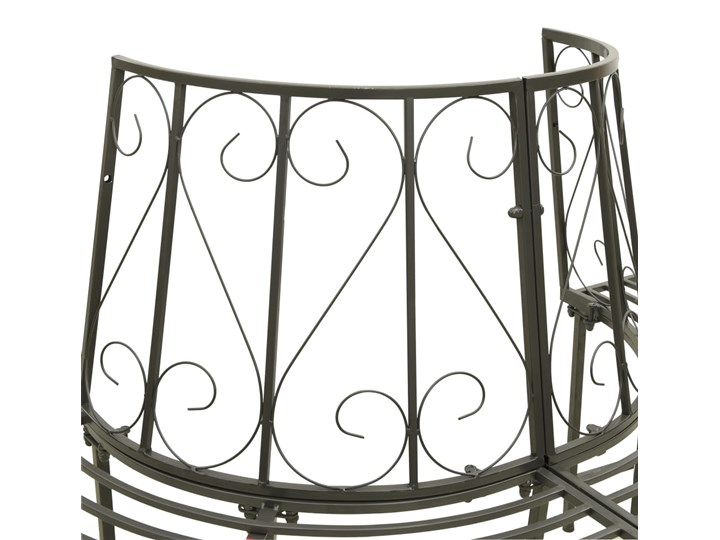 vidaXL Ogrodowa, półokrągła ławka pod drzewo, 160 cm, stalowa Z oparciem Kategoria Ławki ogrodowe Kolor Czarny