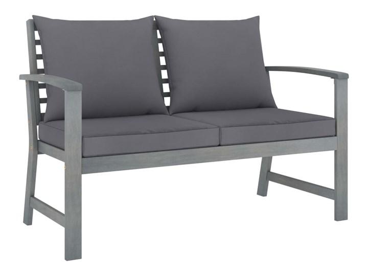 vidaXL 4-cz. zestaw wypoczynkowy do ogrodu, poduszki, drewno akacjowe Zestawy wypoczynkowe Tworzywo sztuczne Kategoria Zestawy mebli ogrodowych Styl Rustykalny