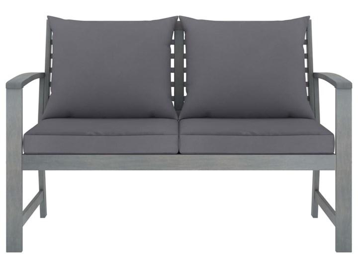 vidaXL 4-cz. zestaw wypoczynkowy do ogrodu, poduszki, drewno akacjowe Zestawy wypoczynkowe Kolor Szary Tworzywo sztuczne Styl Rustykalny