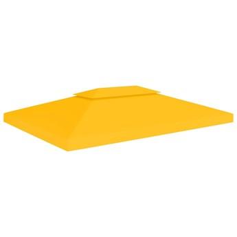 vidaXL 2-poziomowe zadaszenie altany, 310 g/m² 4x3 m, żółte