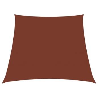 vidaXL Trapezowy żagiel ogrodowy, tkanina Oxford, 4/5x4 m, terakota