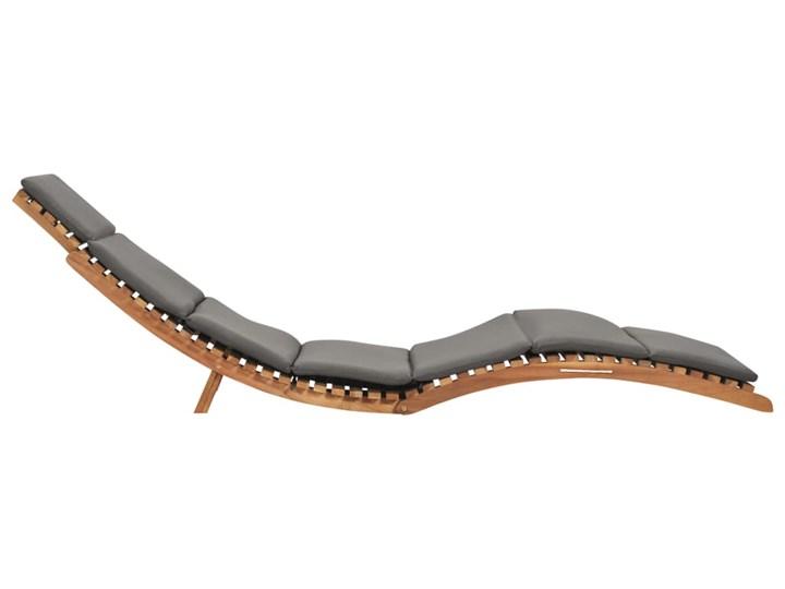 vidaXL Składany leżak z ciemnoszarą poduszką, lite drewno tekowe Składane Kategoria Leżaki ogrodowe