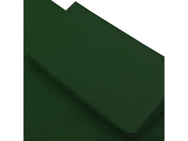 vidaXL Leżak ogrodowy z baldachimem i poduszkami, zielony Z daszkiem Metal Leżanki Kategoria Leżaki ogrodowe