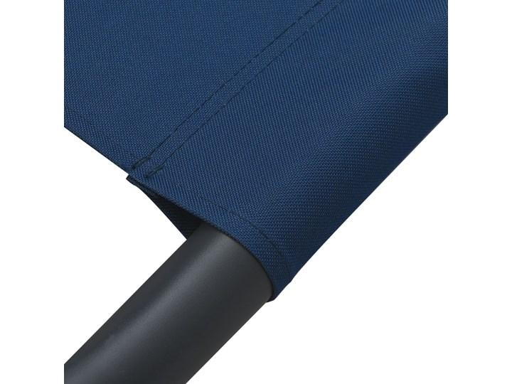 vidaXL Leżak ogrodowy z baldachimem i poduszkami, niebieski Leżanki Z daszkiem Metal Kategoria Leżaki ogrodowe