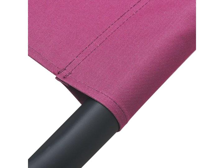 vidaXL Leżak ogrodowy z baldachimem i poduszkami, różowy Z daszkiem Leżanki Metal Kategoria Leżaki ogrodowe