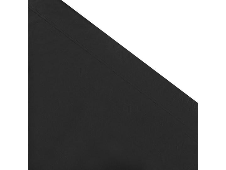 vidaXL Leżak ogrodowy z baldachimem, czarny Z daszkiem Metal Tworzywo sztuczne Kategoria Leżaki ogrodowe