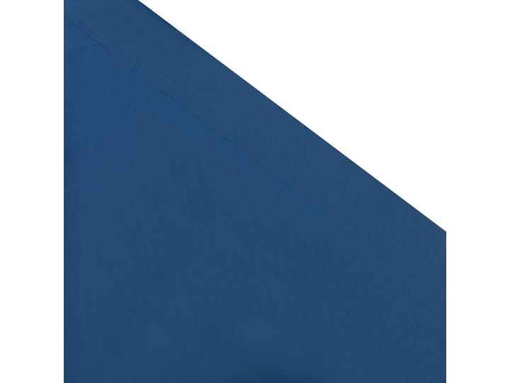 vidaXL Leżak ogrodowy z baldachimem, niebieski Metal Z daszkiem Tworzywo sztuczne Kategoria Leżaki ogrodowe