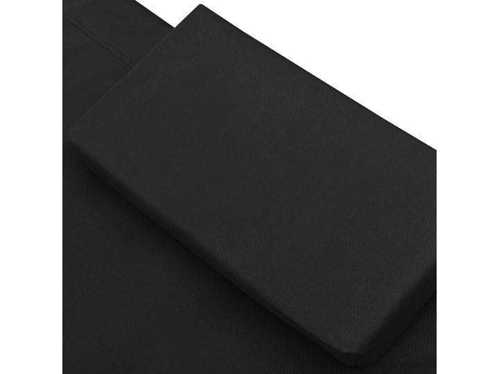 vidaXL Leżanka ogrodowa, tkanina, czarna Metal Kolor Czarny Leżanki Kategoria Leżaki ogrodowe