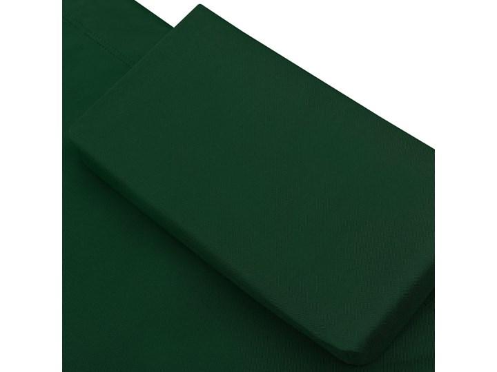 vidaXL Leżak ogrodowy z baldachimem i poduszką, zielony Z poduszką Z daszkiem Metal Kategoria Leżaki ogrodowe