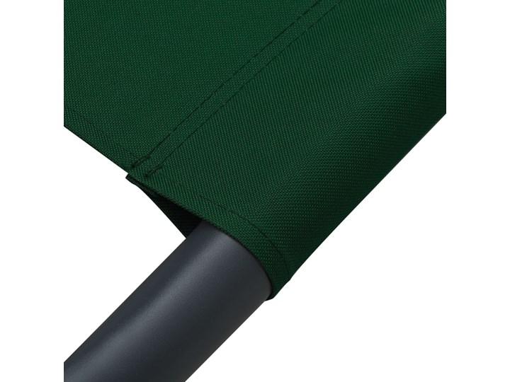 vidaXL Leżak ogrodowy z baldachimem i poduszką, zielony Z daszkiem Metal Z poduszką Kategoria Leżaki ogrodowe