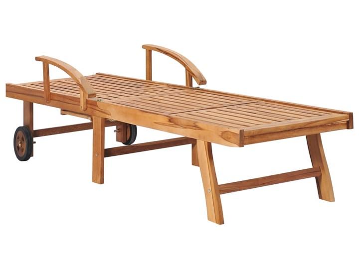 vidaXL Leżak, lite drewno tekowe Kategoria Leżaki ogrodowe Metal Styl Rustykalny