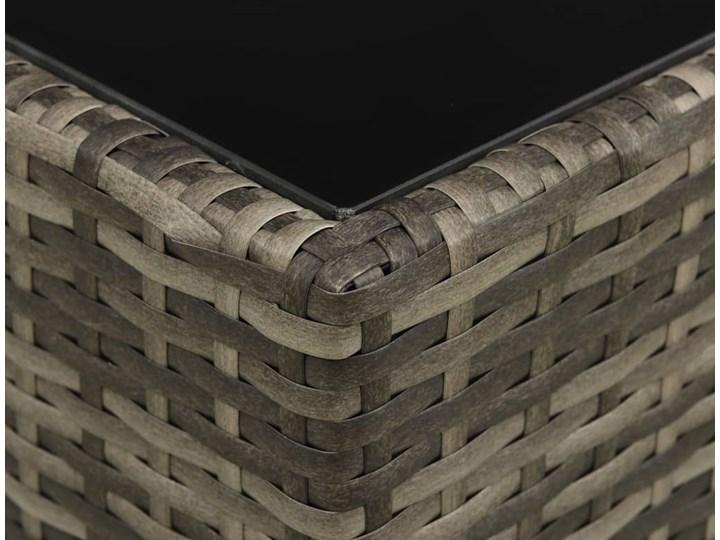 vidaXL 4-cz. zestaw wypoczynkowy do ogrodu, poduszki, szary rattan PE Technorattan Tworzywo sztuczne Zestawy wypoczynkowe Zestawy modułowe Stal Kategoria Zestawy mebli ogrodowych