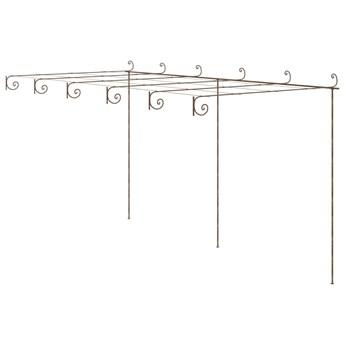 vidaXL Pergola ogrodowa, antyczny brąz, 6x3x2,5 m, żelazo