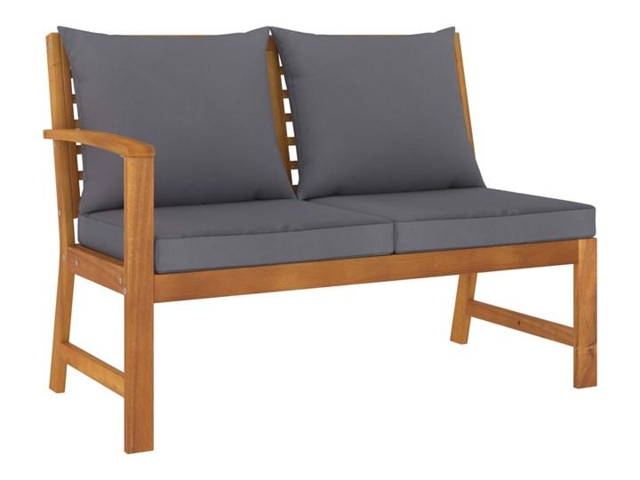 vidaXL 4-cz. zestaw wypoczynkowy do ogrodu, poduszki, drewno akacjowe Zestawy wypoczynkowe Zestawy modułowe Tworzywo sztuczne Zestawy kawowe Kolor Brązowy
