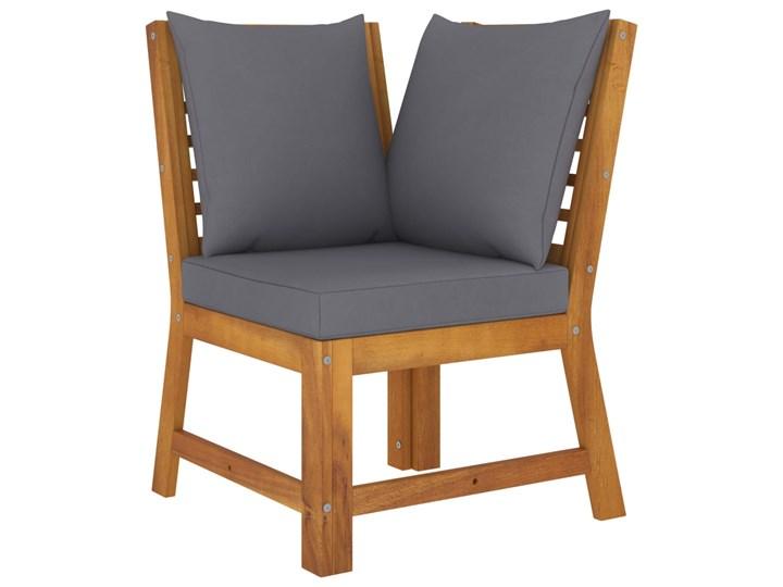 vidaXL 4-cz. zestaw wypoczynkowy do ogrodu, poduszki, drewno akacjowe Tworzywo sztuczne Zestawy wypoczynkowe Zestawy modułowe Zestawy kawowe Kolor Brązowy