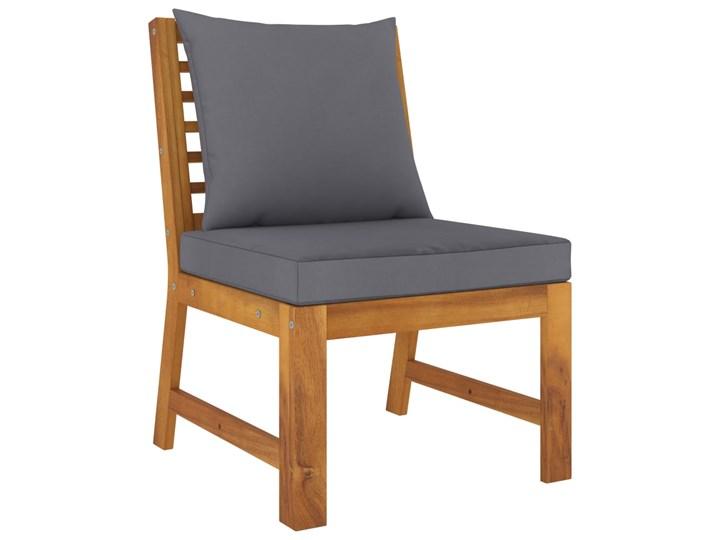 vidaXL 4-cz. zestaw wypoczynkowy do ogrodu, poduszki, drewno akacjowe Zestawy wypoczynkowe Zestawy modułowe Zestawy kawowe Tworzywo sztuczne Kolor Brązowy