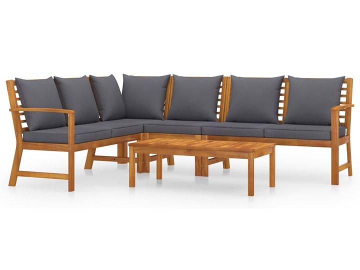 vidaXL 5-cz. zestaw wypoczynkowy do ogrodu, poduszki, drewno akacjowe Zestawy kawowe Zestawy wypoczynkowe Tworzywo sztuczne Zestawy modułowe Kolor Brązowy Kategoria Zestawy mebli ogrodowych