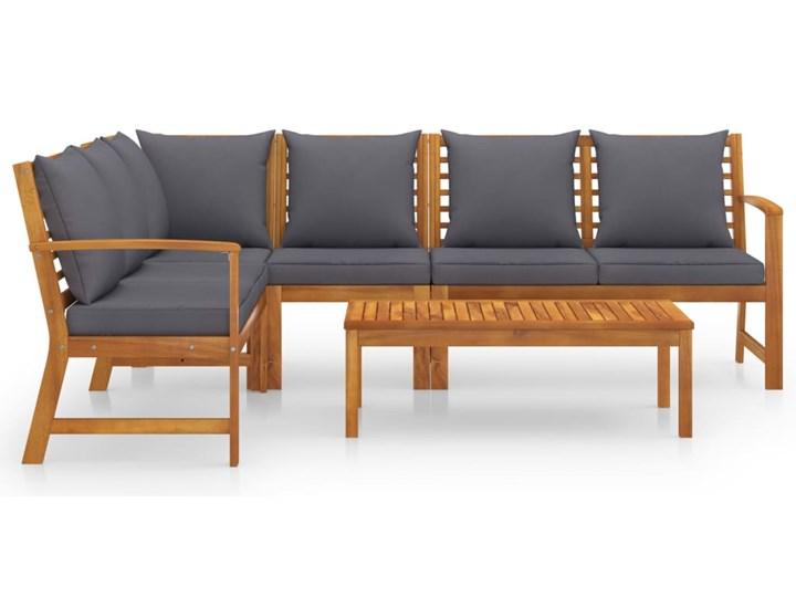 vidaXL 5-cz. zestaw wypoczynkowy do ogrodu, poduszki, drewno akacjowe Tworzywo sztuczne Zestawy kawowe Zestawy modułowe Kolor Brązowy Zestawy wypoczynkowe Styl Nowoczesny
