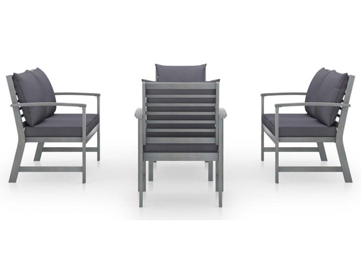 vidaXL 5-cz. zestaw wypoczynkowy do ogrodu, poduszki, drewno akacjowe Zawartość zestawu Stolik Zestawy modułowe Tworzywo sztuczne Zestawy wypoczynkowe Zestawy kawowe Kolor Czarny