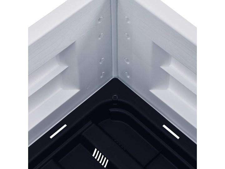 vidaXL Podwyższona donica, PP, biała, 43x43x35 cm Kwadratowy Donica ogrodowa Plastik Kolor Biały
