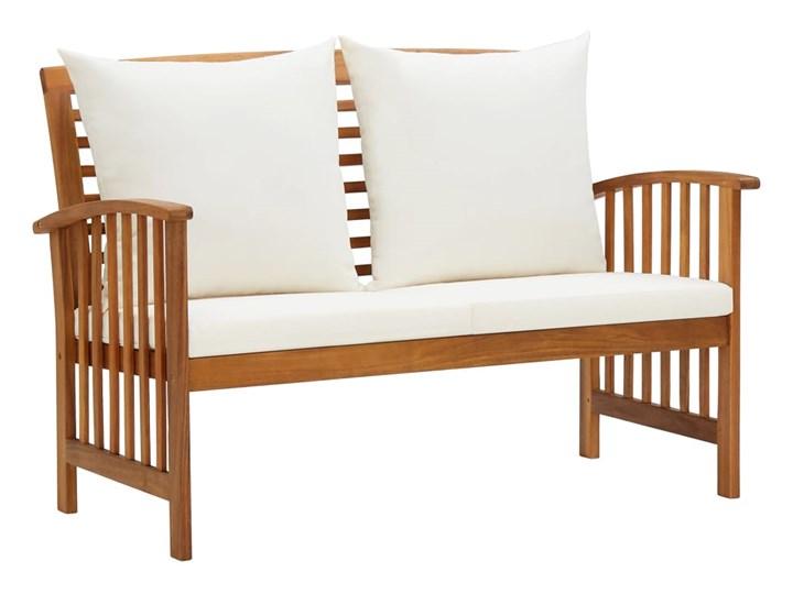 vidaXL 4-cz. zestaw wypoczynkowy do ogrodu, poduszki, drewno akacjowe Zestawy wypoczynkowe Zestawy kawowe Kolor Brązowy