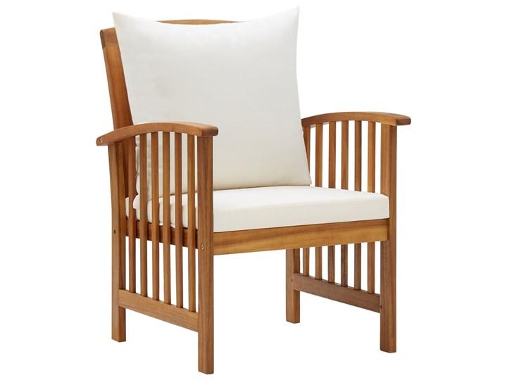 vidaXL 4-cz. zestaw wypoczynkowy do ogrodu, poduszki, drewno akacjowe Zestawy kawowe Zestawy wypoczynkowe Kategoria Zestawy mebli ogrodowych Zawartość zestawu Stolik