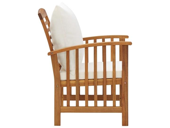 vidaXL 4-cz. zestaw wypoczynkowy do ogrodu, poduszki, drewno akacjowe Zestawy wypoczynkowe Zestawy kawowe Styl Vintage