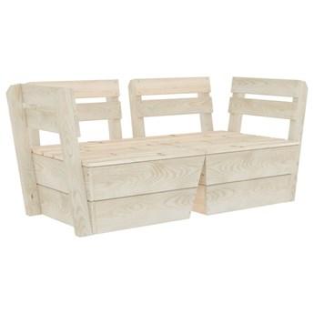 vidaXL Ogrodowa sofa 2-osobowa z palet, impregnowane drewno świerkowe