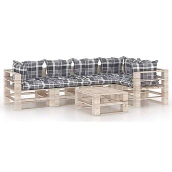 vidaXL 6-cz. zestaw mebli ogrodowych z palet, z poduszkami, sosna