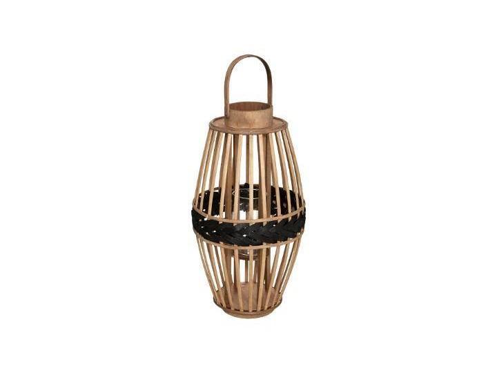 Lampion bambusowy pleciony, Ø 23 cm, beżowy Kategoria Świeczniki i świece Kolor Brązowy