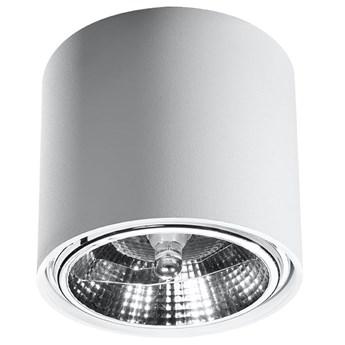 Nowoczesny Plafon TIUBE biały Lampa aluminium okrągła na sufit Idealna do salonu,  sypialni, korytarza Oprawa sufitowa żarówka GU10 Oświetlenie SOLLUX